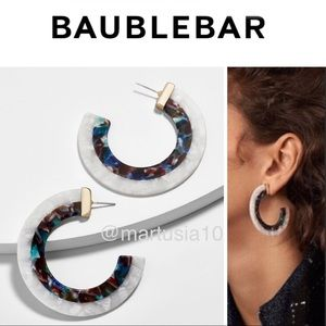 BaubleBar Deisy Resin Hoop Earrings